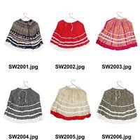 Girl's Cotton Mini Skirt 100% Cotton Fabric