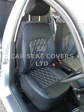 i - TO FIT A JAGUAR X TYPE CAR, SEAT COVERS, ROSSINI DIAMOND-BLACK - 2 FRONTS