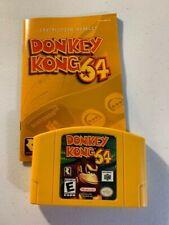 Donkey Kong 64 (Nintendo 64, 1999) w/ Instruction Booklet