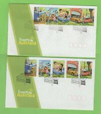 Australia 2008 'Inventive Australia'ord & self adhesives on two First Day Covers