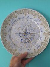 Vintage 1955 Calendar Tin Plate