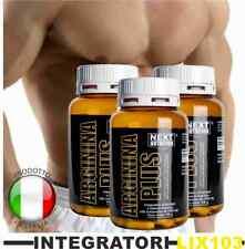 Arginina 1000mg Ossido Nitrico GH Massa Muscolare erezione 3 box 100 Compresse