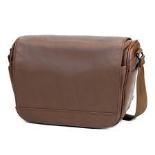 Cecilia Tharp 8L Camera Messenger Bag in Chestnut Leather
