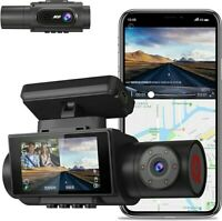 AQP 4K Dual Dash Cam, 3840x2160P Ultra HD Front and 1080P Inside w/ 2 Sony Exmor