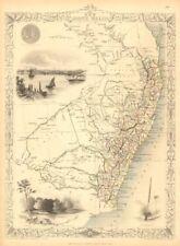 NEW SOUTH WALES. w/ Mitchell/Leichhardt explorers routes.TALLIS/RAPKIN 1851 map