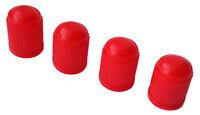 4 X Rouge Universel Voiture, Camionnette, Vélo Pneu Plastique Soupape Dust Caps