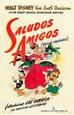 The Three Caballeros movie poster  (e) : 11 x 17 inches : Saludos Amigos poster