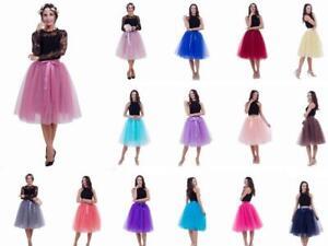 Adult Women Tulle Tutu Skirt Petticoat Underskirt Wedding Bridal Ball Gown Skirt