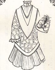 """Sewing outfit Clothes Dress Pattern fits 13 14"""" Little Darling Kish Betsy dolls"""