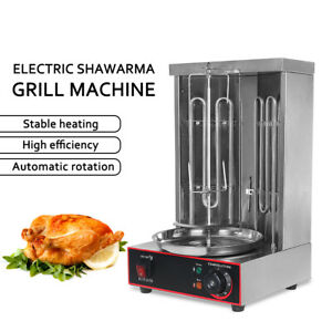 Stainless Steel Commercial Electric Shawarma Gyros Grill Machine 6prm 50-300℃