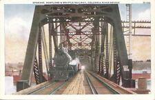 Postcard Spokane, Portland, & Seattle Railroad Columbia River Bridge