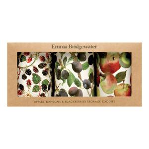 Emma Bridgewater Set of 3 Caddies Fruit Apples, Damsons & Blackberries