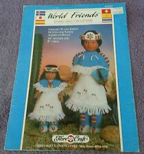 Plains Indian Doll Pattern Leaflet FCM327  by Fibre Craft, Vintage 1992, Crochet