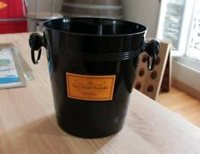 FRENCH CHAMPAGNE VEUVE CLICQUOT BLACK BUCKET / COOLER