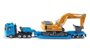 Siku Heavy Haulage Transporter with Flat-Bed Trailer 1:87 Scale Diecast Vehicle