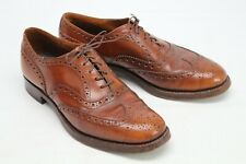 VTG Churchs Burwood Mens Wingtip Shoes 7.5 D Patina Brown Leather Brogue England