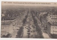 Paris Panorama Pris de l'Arc De Triomphe France Vintage Postcard US077