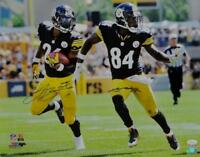 LeVeon Bell Antonio Brown Autographed Steelers 16x20 Running PF Photo-JSA W Auth