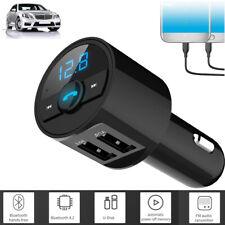Wireless Bluetooth Car 2 Usb Charger Fm Transmitter Radio Adapter Mp3 Player Usa