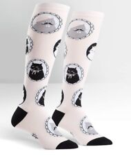 Sock It To Me 'Cameow' Ladies Cat Funky Knee High Socks, Pale Pink