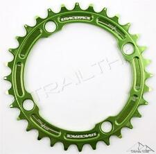 RaceFace Narrow-Wide 32T x 104mm Single Chainring 9/10/11-Speed Ring MTB - GREEN