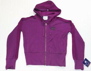 Champion Women's Heritage Herringbone Zip Hoodie Purple Size S