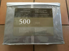 500 THREAD COUNT FULL SIZE SHEET SET (GREY SHINY) COTTON 18""