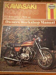 LIKE NEW! KAWASAKI 400 TWINS 1974 ON HAYNES WORKSHOP MANUAL KZ