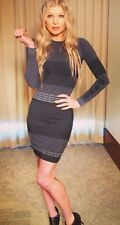 Alexander Wang x H&M logo Bodycon Jacquard Knit dress Size Small Sexy Chic NWT