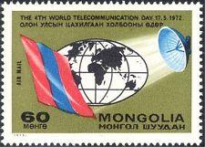 Mongolia 1972 telecomunicazioni/Bandiera/piatto Radio Antenna/Globe 1v (n12134)
