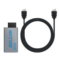 Wii to HDMI Full HD TV Converter 3.5mm Jack Audio Output, 3ft HDMI Cable Include