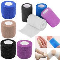 2 Rolls First Aid Medical Health Care Self-Adhesive Elastic Bandage Gauze Tape