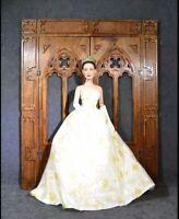 Gothic DOORS for Dolls 1/6 1/4 BJD tonner Barbie FR wood furniture OOAK Catholic