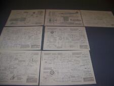 VINTAGE..FORD 5-AT-C TRIMOTOR & LOCKHEED VEGA..4-VIEWS/MEASUREMENTS.RARE! (757E)