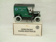 ERTL Ford Open Front Panel Side Truck Bank - MODEL T FORD CLUB EXCLUSIVE - w/key