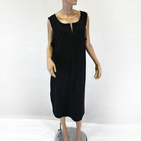 Talbots Women Plus Size Black Split Neck 100% Cotton Sleeveless X 0X XL
