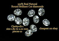 REAL 100% Natural Loose 10 Round BRILLIANT CUT Diamond SI-1,G-H Color Q7
