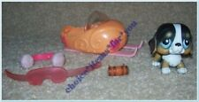 LITTLEST PET SHOP #145 DOG ST BERNARD with SNOW MOBILE and ACCESSORIES