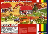 Britain's World Of Farm Models Point Of Sale 1980's Tractor Poster Brochure A3