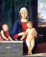 Nice Oil painting Virgin and Child Madonna with Christ St. John the Baptist