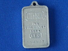 CITRA 10 Gram .999 Fine Silver Bar Pendant Ingot Serial #004947 B6603