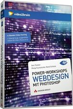 video2brain Webdesign mit Photoshop, 15 Stunden Video DVD NEU