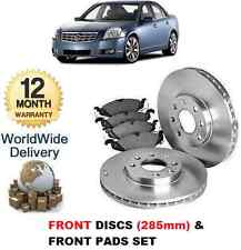 CADILLAC BLS 1.9DT 2.0i 2.8i 2006-> FRONT BRAKE DISCS + DISC PADS KIT 285m diam