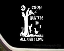 Coon Hunting Coon Dog Scenery Decal Sticker CD-3