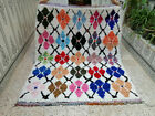 Vintage Moroccan Handmade Rug Beni Ourain Berber Rug Azilal Carpet 4.96 x 5.97ft