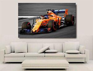 Canvas Wall Art - Mclaren F1 2018 - Alonso