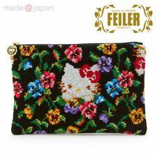 Hello Kitty Pouch FEILER Chenille fabric Fatimaputi Sanrio Japan