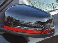 Außenspiegel Aufkleber Streifen Stripes für Mercedes Benz CLA CLS GLA GLK Klasse