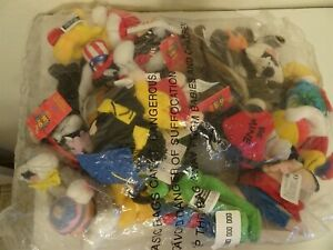 Set of 12 Looney Tunes Year Holiday Mini Beanbags Plush 2000 Warner Bros New