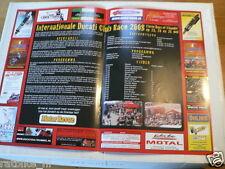O190 FLYER BROCHURE THREE DAYS OF THUNDER DUCATI CLUB RACE 2008 ASSEN DUTCH 4 PA